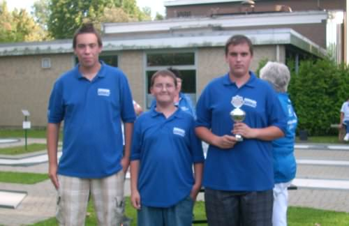 siegreiche Jugendmannschaft v.l. Kevin Neumann  Andre Kobbe  Philipp Kobbe